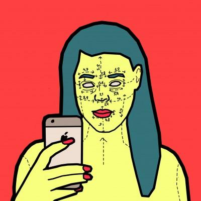 Snapchat - Virtual Surgery. Acrylique sur toile. 120 x 120 cm